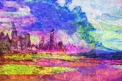 originell målning för olja Arkivbild