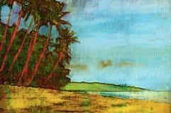 originell målning för olja vektor illustrationer