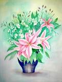 originell målning för liljar Royaltyfria Bilder