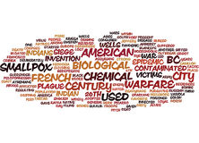 The Origins Of Biological And Chemical Warfare Text Background  Word Cloud Concept Stock Photo