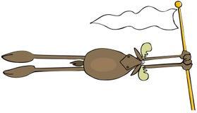 Orignaux de Taureau soufflant dans le vent illustration libre de droits