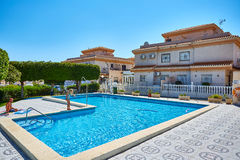 Orihuela, Spain- June 06, 2016: Apartments for tourists near the sea in Spain Royalty Free Stock Photography