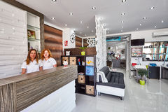 Orihuela, Spain- June 15, 2016: Beauty salon with modern design in European country Stock Photography