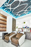 Orihuela, Spain- June 15, 2016: Beauty salon with modern design in European country Royalty Free Stock Photos