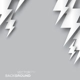 Oriigami silver Lightning bolt background. Royalty Free Stock Image