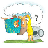 Oriktig washcirkulering stock illustrationer
