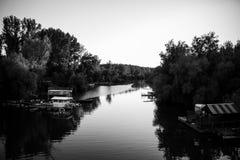 Orilla blanco y negro Imagen de archivo