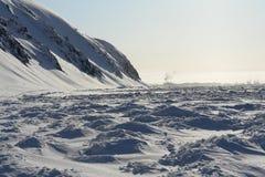 Orilla congelada del Océano ártico imágenes de archivo libres de regalías