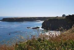 Orilla costera de la carretera 1 en CA Foto de archivo libre de regalías