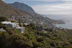 Orilla de Ciudad del Cabo Océano Atlántico Foto de archivo