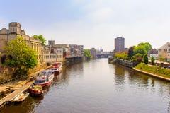 Orilla de la ciudad de York, Reino Unido Fotos de archivo