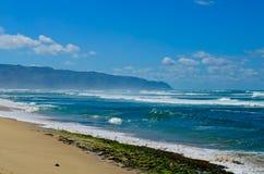Orilla de la costa oeste de Oahu Foto de archivo
