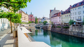 Orilla 2 de Ljubljana Fotos de archivo
