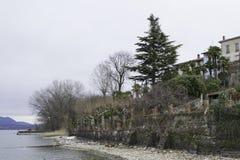 Orilla de Maggiore del lago Fotos de archivo libres de regalías