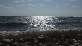 Orilla de mar almacen de metraje de vídeo