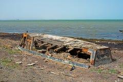 Orilla de mar Caspio Fotos de archivo libres de regalías