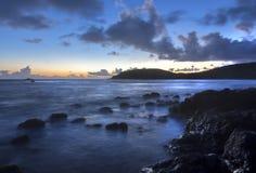 Orilla de mar del Caribe mística Foto de archivo libre de regalías