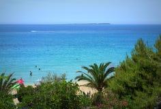 Orilla de mar jónico Fotos de archivo