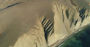 Orilla de mar modelada almacen de metraje de vídeo