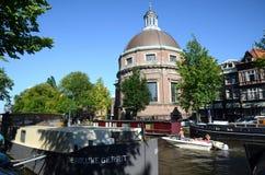 Orilla del agua de Amsterdam Imagen de archivo libre de regalías