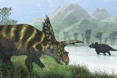 Orilla del dinosaurio Foto de archivo libre de regalías