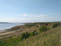 Orilla del estuario Kuyalnik Fotografía de archivo libre de regalías
