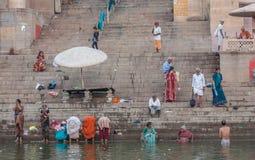 Orilla del Ganges imagen de archivo
