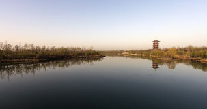 Orilla del lago Fotografía de archivo