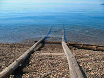 Orilla del lago Baikal Foto de archivo libre de regalías