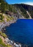 Orilla del lago crater, Oregon Foto de archivo