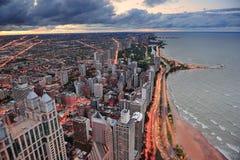 Orilla del lago de Chicago imagen de archivo libre de regalías