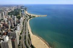 Orilla del lago de Chicago Foto de archivo