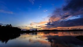 Orilla del lago de KaenNaKorn Foto de archivo libre de regalías