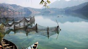 Orilla del lago de Pokhara Imagen de archivo libre de regalías