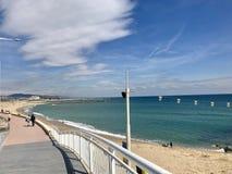 Orilla del mar Barcelona foto de archivo libre de regalías