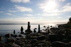 Orilla del mar blanco Foto de archivo libre de regalías