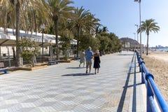 Orilla del mar de Alicante España Imágenes de archivo libres de regalías