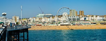 Orilla del mar de Brighton Fotografía de archivo libre de regalías