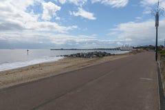 Orilla del mar de Felixstowe Fotos de archivo