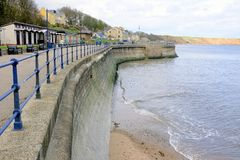 Orilla del mar de Filey, Yorkshire, Reino Unido foto de archivo libre de regalías