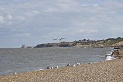 Orilla del mar de la bahía de Herne Foto de archivo