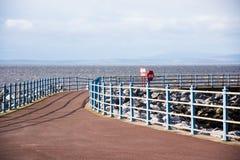 Orilla del mar de Morecambe imagen de archivo libre de regalías