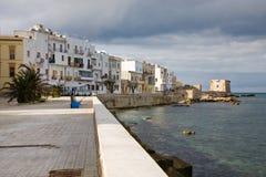 Orilla del mar de Trapan, Sicilia Imagen de archivo