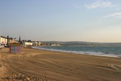 Orilla del mar de Weymouth Fotografía de archivo libre de regalías