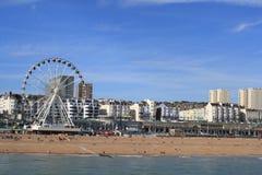Orilla del mar en Brighton fotografía de archivo libre de regalías