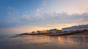 Orilla del mar en Eastbourne. Fotos de archivo