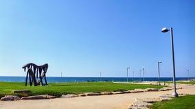 Orilla del mar en Tel Aviv Fotografía de archivo libre de regalías
