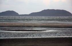 Orilla del mar malasia Foto de archivo libre de regalías