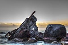 Orilla del naufragio imagenes de archivo