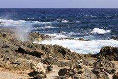 Orilla del norte de Aruba Foto de archivo